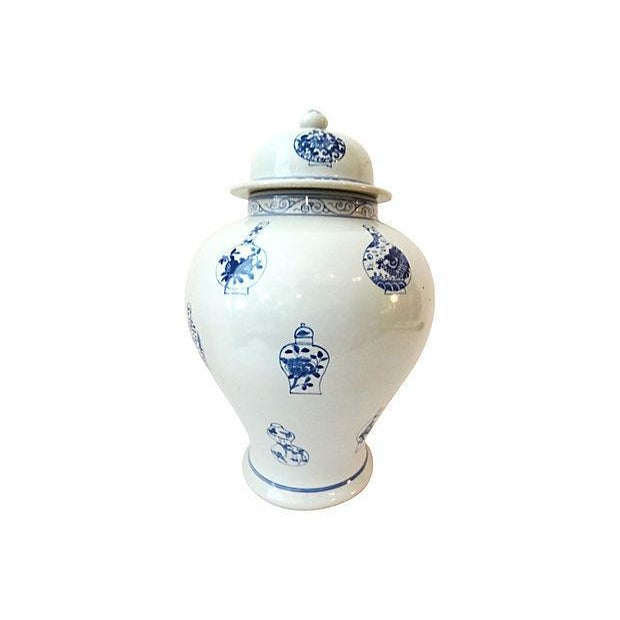LG Hand-Painted Blue & White Ginger Jar - Image 7 of 7
