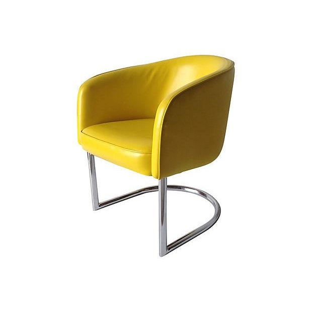 Milo Baughman Chrome Tub Club Chair - Image 3 of 7
