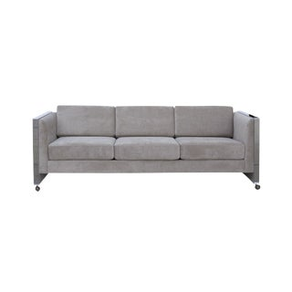 Milo Baughman Style Even Arm Sofa by Selig of Monroe For Sale