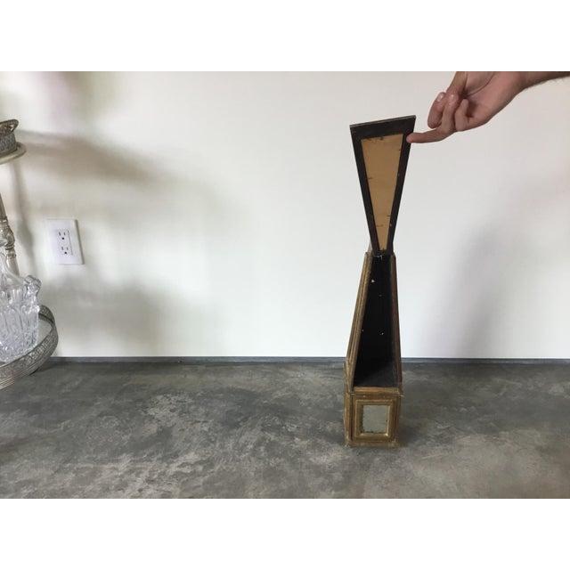 1940s Antiqued Gold Mirrored Obelisk For Sale - Image 5 of 8