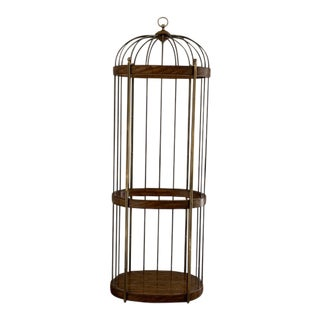 1970s Mid-Century Modern Mastercraft Birdcage Etagere For Sale