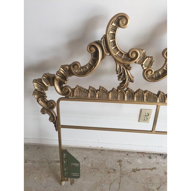 Vintage Gold Hollywood Regency Headboard For Sale - Image 5 of 5
