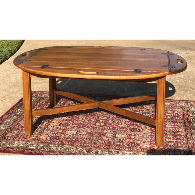Traditional Coffee Tables Ethan Allen: Vintage Ethan Allen Butler's Tray Coffee Table