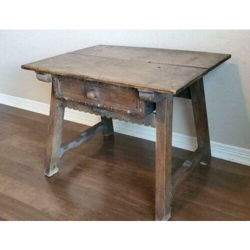 18th Century Rustic Spanish Colonial Low Table For Sale In Austin - Image 6 of 11