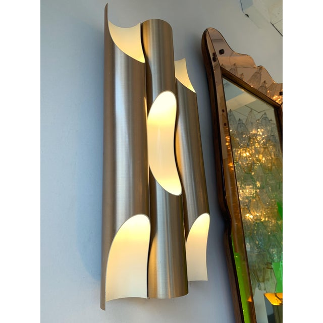 Pair of Maxi Fuga Sconces Gilt Metal by Komulainen for Raak Amsterdam. 1970s For Sale - Image 6 of 12