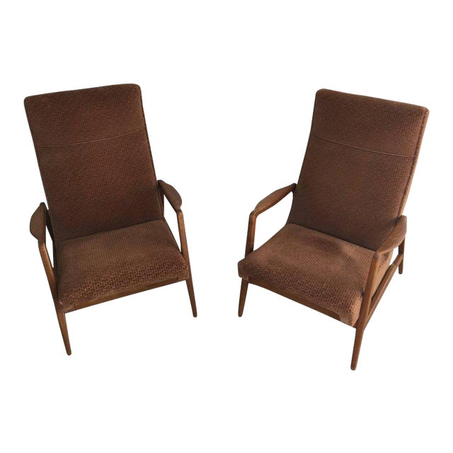 Rare Pair of Reclining Armchairs by Knoll Antimott - Image 1 of 11