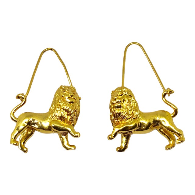 Givenchy Leo/Lion Zodiac Dangle Earrings For Sale