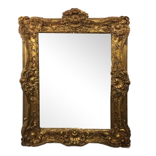 20th Century Empire Mirror Frame With English Crown Motif
