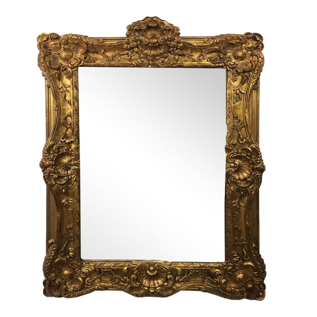 20th Century Empire Mirror Frame With English Crown Motif For Sale