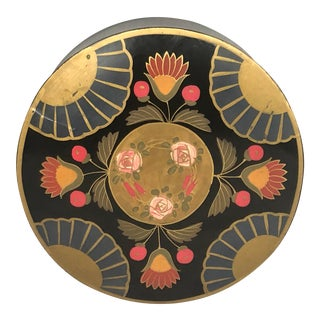 1930s Japanese Art Deco Lacquer Box With Lid For Sale