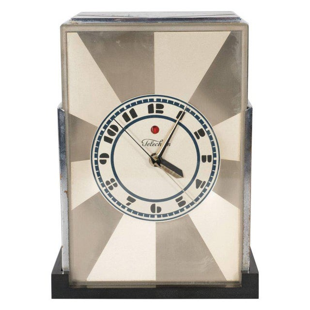 """""""Modernique"""" Clock by Paul Frankl for Warren Telechron Company, circa 1928 For Sale - Image 9 of 9"""