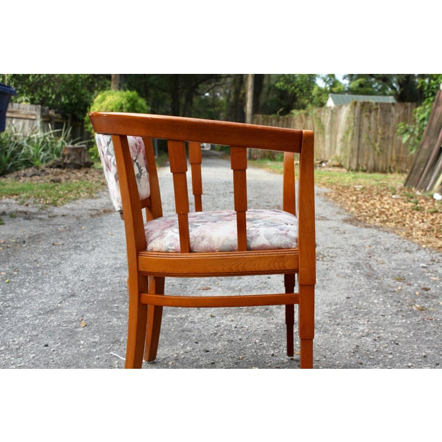 Mid Century Modern Italian Barrel Club Chairs - A Pair - Image 3 of 5