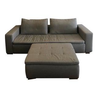 BoConcept Gray Sofa & Ottoman - A Pair