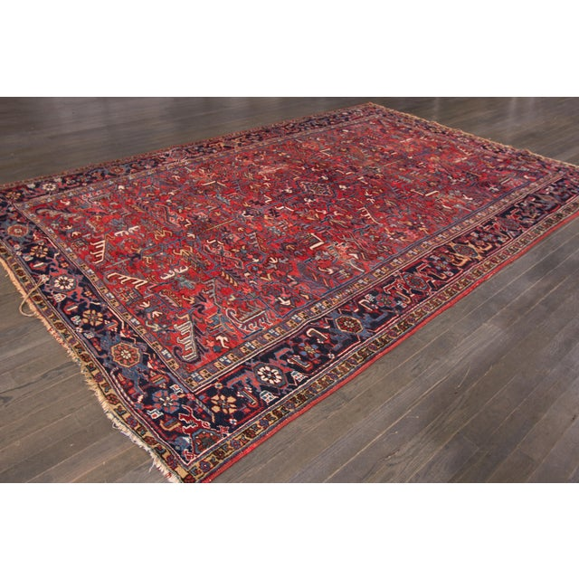 "Vintage Red Apadana Persian Rug - 8'2"" X 12' - Image 10 of 10"