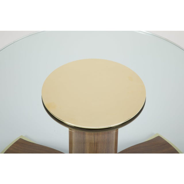Mid-Century Modern Jules Leleu Mahogany, Bronze and Glass Coffee Table For Sale - Image 3 of 13