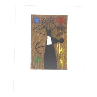 Large Mid 20th C. Modern Ltd. Ed. Miro Lithograph For Sale