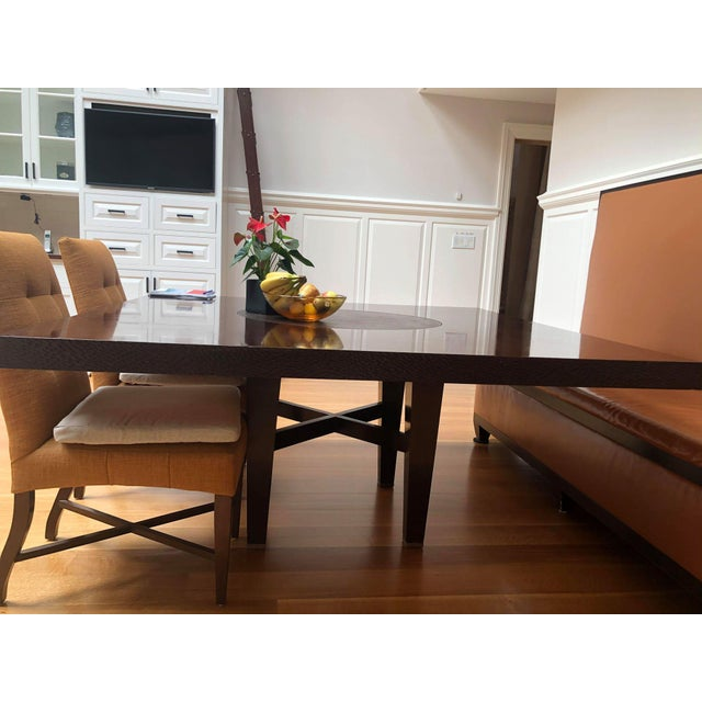 Custom-Made Wooden Kitchen Table For Sale In New York - Image 6 of 7
