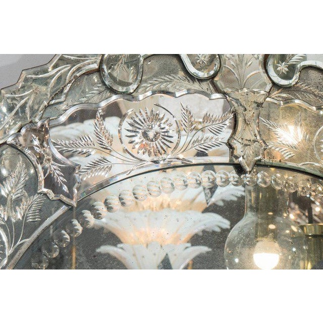 1940s French Venetian Style Mirror For Sale In New York - Image 6 of 7