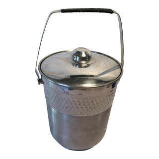 Vintage Italian Insulated Aluminum Ice Bucket by Nasco For Sale