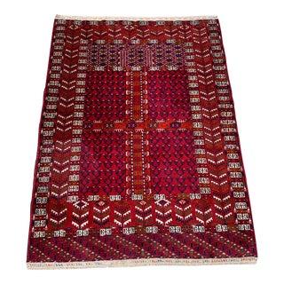 Wool on Wool Village Rug- 3′8″ × 5′ For Sale