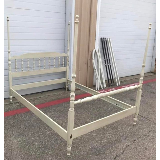Traditional Vintage Full Size Ethan Allen Canopy Bed For Sale - Image 3 of 6