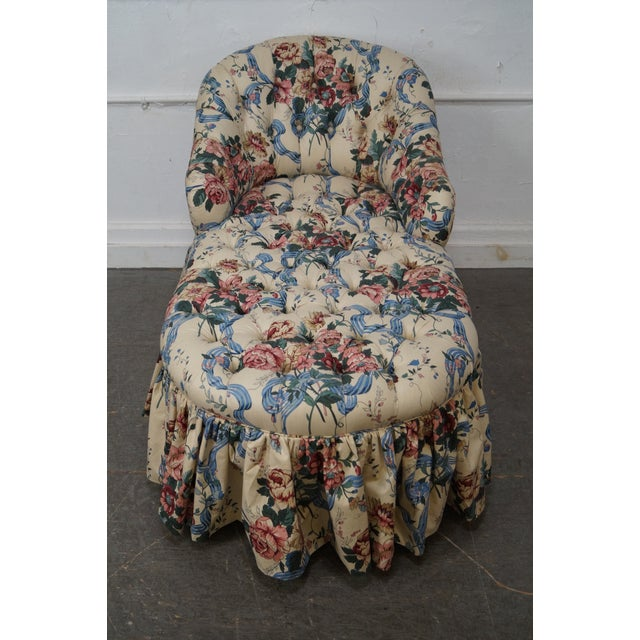 KayLyn Inc. Floral Upholstered Tufted Chaise Lounge - Image 2 of 10