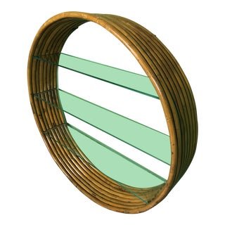 Vintage Mid-Century Paul Frankl Eight Strand Rattan Circular Wall Hanging For Sale