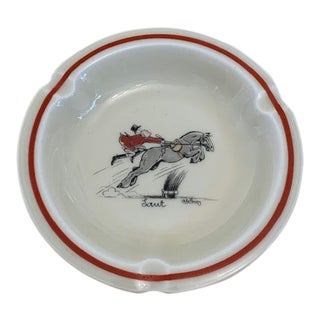 Vintage Abercrombie and Fitch Limoges Foxhunter Ashtray For Sale