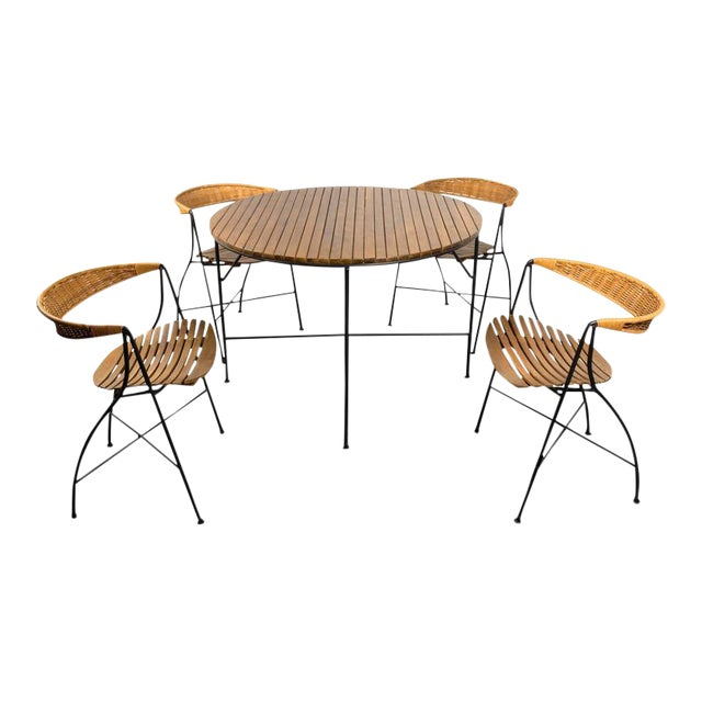 1950s Mid-Century Modern Arthur Umanoff Dining Table and Chairs Set - Set of 5 For Sale - Image 11 of 11