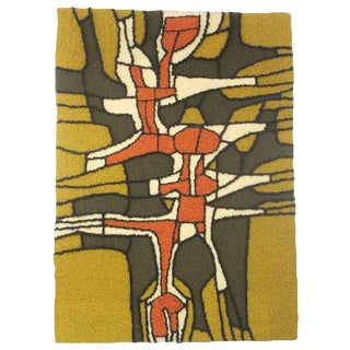 Abstract Hooked Rug For Sale