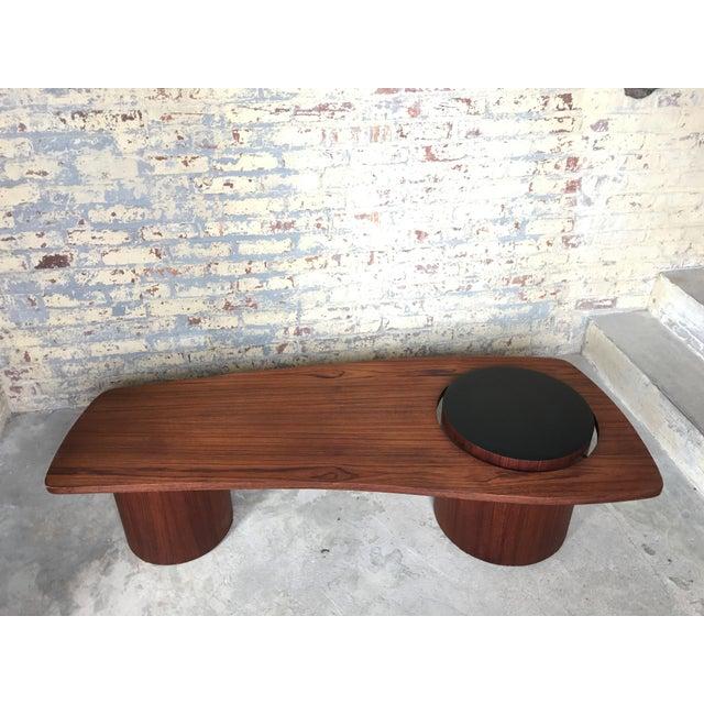 Mid-Century Danish Teak Floating Coffee Table - Image 2 of 10