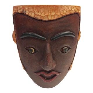 Boho Chic Chestnut Terra Cota Face Pot