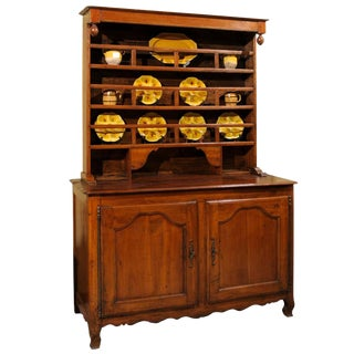 19th Century Antique French Cherry Vaisselier, Circa 1880