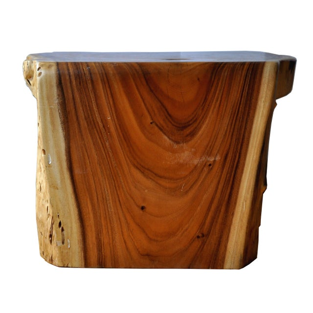 Wood Boho Chic Acacia Coffee Table For Sale - Image 7 of 10