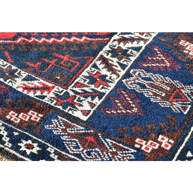 1980s Turkish Oushak Aztec Anatolian Tribal Hand Knotted Wool Carpet For Sale - Image 9 of 12