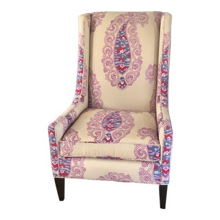 Kravet Modern Wingback With Manuel Canovas Fabric For Sale