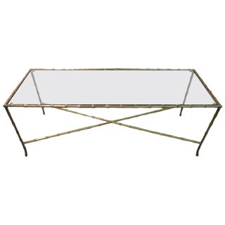 Large Maison Bagues Cocktail Table in Bronze For Sale