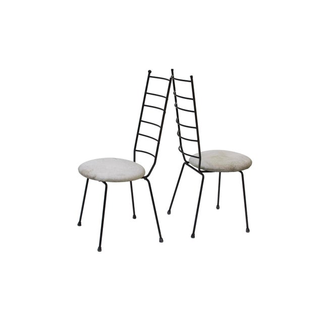 Arthur Umanoff Iron Ladder Back Patio Dining Chairs, S/4 For Sale - Image 4 of 9