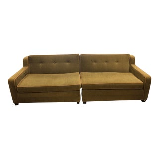 Dunbar Brown Sofa Sectional For Sale