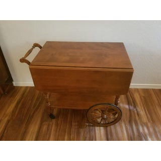 20th Century Ethan Allen Solid Maple Tea Cart Preview