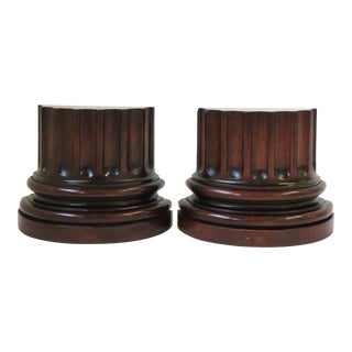 European Roman Doric Column Pillar Bookends - a Pair For Sale