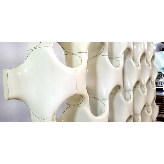 Don Harvey 1960s Mid Century Richard Harvey Contemporary 'Sculpta-Bone Grille' Screen For Sale - Image 4 of 13
