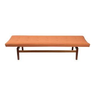 Jens Risom Floating Upholstered Bench For Sale