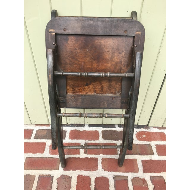 Antique Vintage Folding Theater Chair - Image 6 of 7