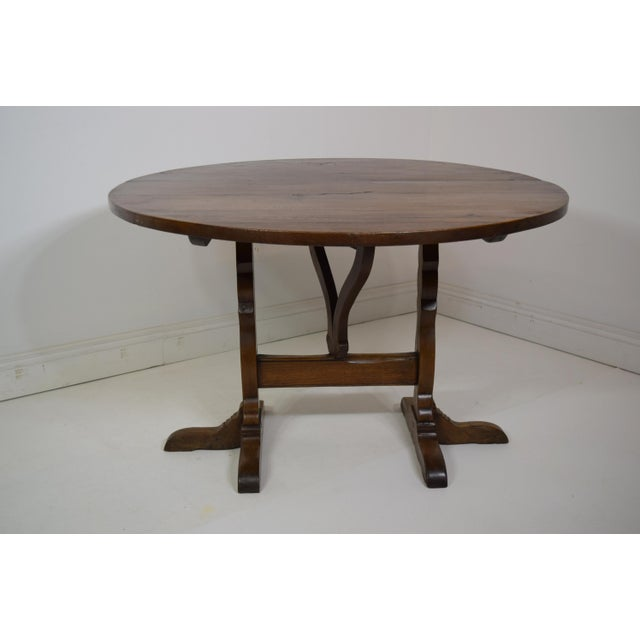 Red 19th-Century French Oak Wine Tasting Table For Sale - Image 8 of 8