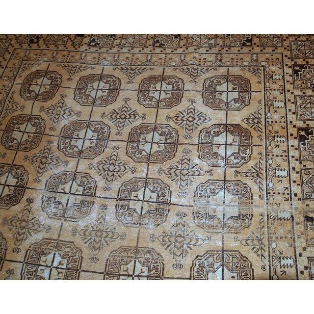 1900s Handmade Antique Uzbek Khotan Rug 6.2' X 12.10' For Sale - Image 9 of 10