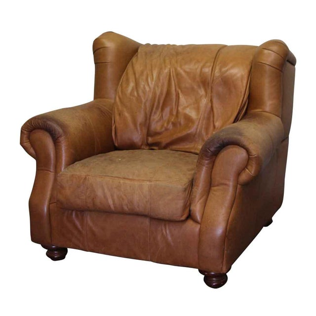 Prime Traditional Leather Wingback Chair Short Links Chair Design For Home Short Linksinfo