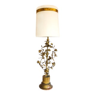 Mid-Century Italian Tole Lamp For Sale
