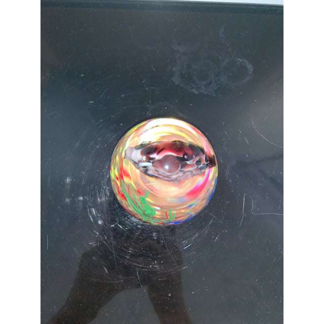 Mid 20th Century Mid 20th Century Murano Italy Glass Aquarium Paper Weight For Sale - Image 5 of 9