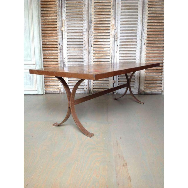 French 1960s Dining Table With Ceramic Tiled Top - Image 4 of 11